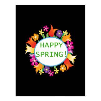 Primavera feliz tarjetas postales