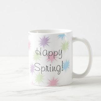 ¡Primavera feliz! Taza De Café