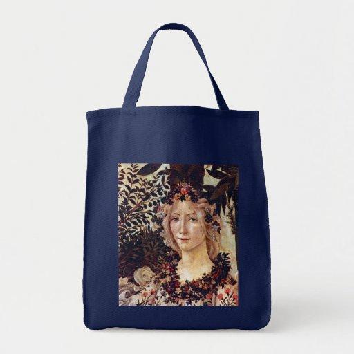 Primavera, flora del detalle, Botticelli C. 1482 Bolsas