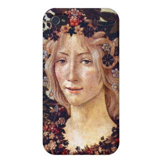 Primavera, flora del detalle, Botticelli C. 1482 iPhone 4 Cobertura