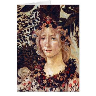 Primavera, flora del detalle, Botticelli C. 1482 Tarjeta De Felicitación