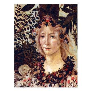 Primavera, flora del detalle, Botticelli C. 1482 Tarjeta Postal