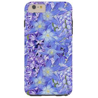Primavera floral en lavanda y azul funda para iPhone 6 plus tough