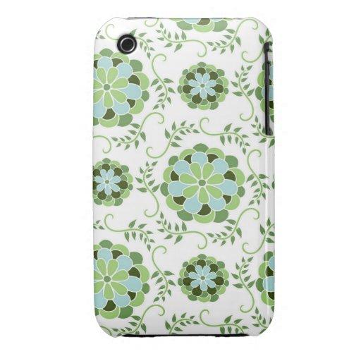 Primavera fresca y de lujo floral iPhone 3 protectores