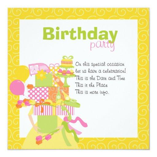 """Primavera imposible de la pila No.3 del cumpleaños Invitación 5.25"""" X 5.25"""""""