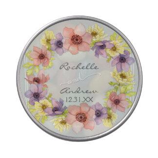 Primavera indicada con letras rústica floral moder jarrones de dulces