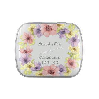 Primavera indicada con letras rústica floral moder latas de dulces