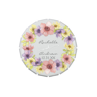 Primavera indicada con letras rústica floral moder frascos de dulces