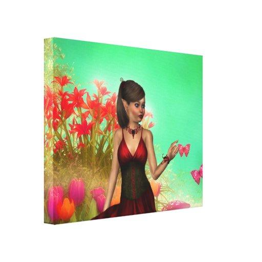 Primavera Lienzo Envuelto Para Galerías