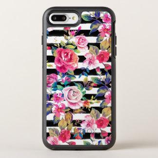 Primavera linda floral y modelo de la acuarela de funda OtterBox symmetry para iPhone 7 plus