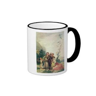 Primavera o el vendedor de la flor, 1786 taza