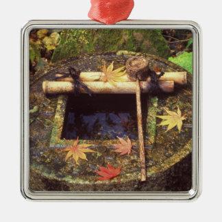 Primavera para la ceremonia de té, templo de adorno cuadrado plateado