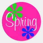 Primavera Pegatina Redonda