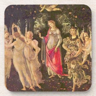 Primavera por Botticelli, arte renacentista Posavasos