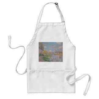 Primavera por el Sena de Claude Monet Delantal