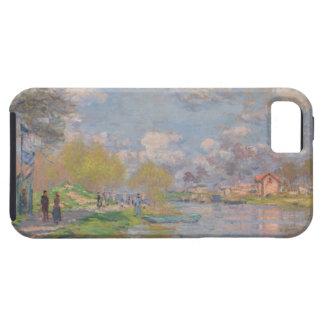 Primavera por el Sena de Claude Monet iPhone 5 Cárcasas