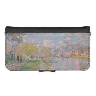 Primavera por el Sena de Claude Monet Funda Tipo Cartera Para iPhone 5