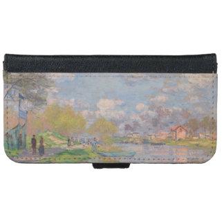 Primavera por el Sena de Claude Monet Funda Cartera Para iPhone 6