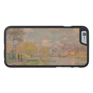 Primavera por el Sena de Claude Monet Funda De iPhone 6 Carved® De Arce