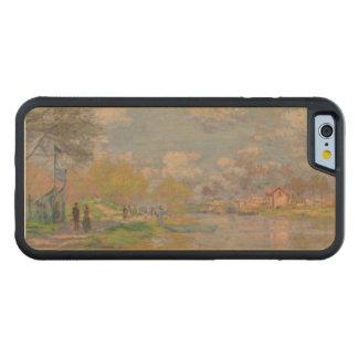 Primavera por el Sena de Claude Monet Funda De iPhone 6 Bumper Arce