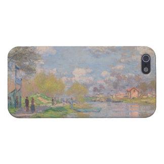 Primavera por el Sena de Claude Monet iPhone 5 Protectores