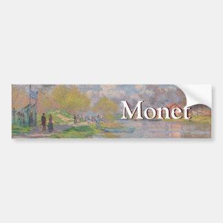 Primavera por el Sena de Claude Monet Pegatina Para Auto