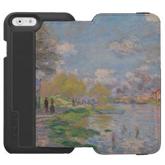 Primavera por el Sena de Claude Monet Funda Cartera Para iPhone 6 Watson