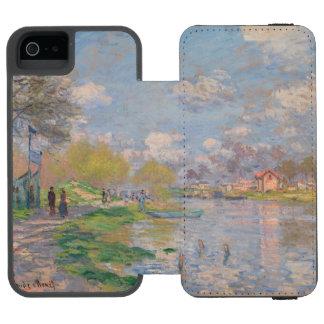 Primavera por el Sena de Claude Monet Funda Cartera Para iPhone 5 Watson