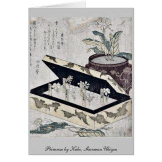 Primavera por Kubo, Shunman Ukiyoe Tarjeta Pequeña