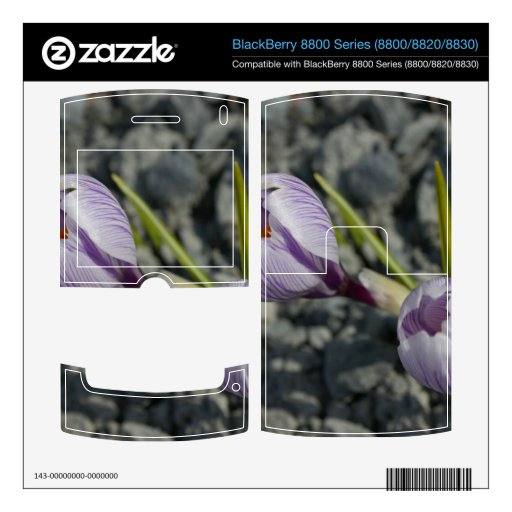 Primavera púrpura calcomanía para BlackBerry 8830