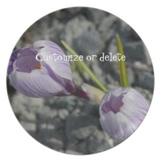 Primavera púrpura; Personalizable Plato