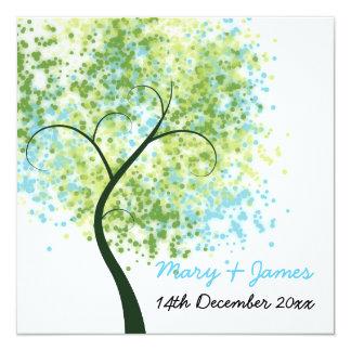 """Primavera que casa el árbol """"reserva de Swirly la Invitación 5.25"""" X 5.25"""""""