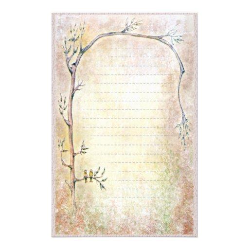 Primavera que despierta - beige papelería personalizada
