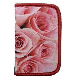 Primavera real del modelo de flores del ramo rosad planificadores