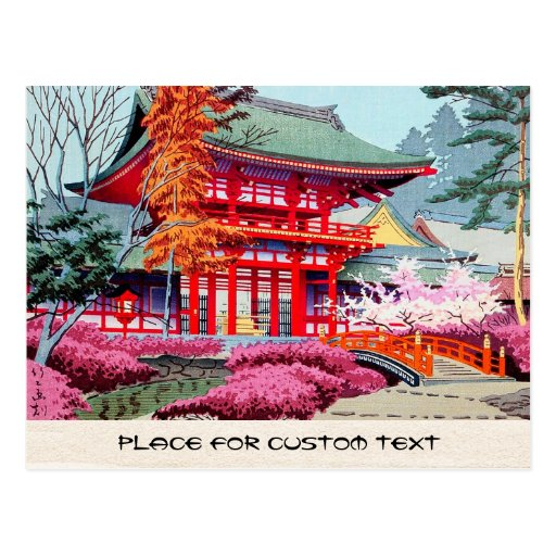 Primavera roja japonesa fresca Asano Takeji del Postales