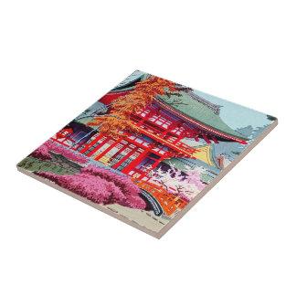 Primavera roja japonesa fresca Asano Takeji del te Teja Cerámica