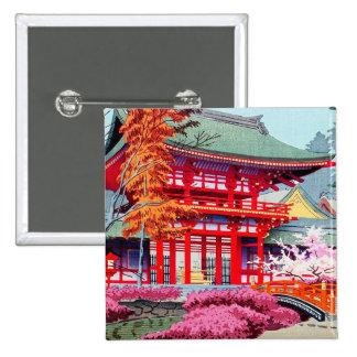 Primavera roja japonesa fresca Asano Takeji del te Pin Cuadrada 5 Cm