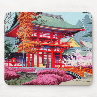 Primavera roja japonesa fresca Asano Takeji del te Tapetes De Ratones
