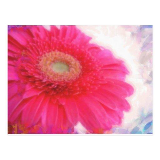 primavera rosada en acuarela tarjetas postales