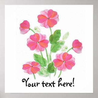 Primavera rosada impresiones