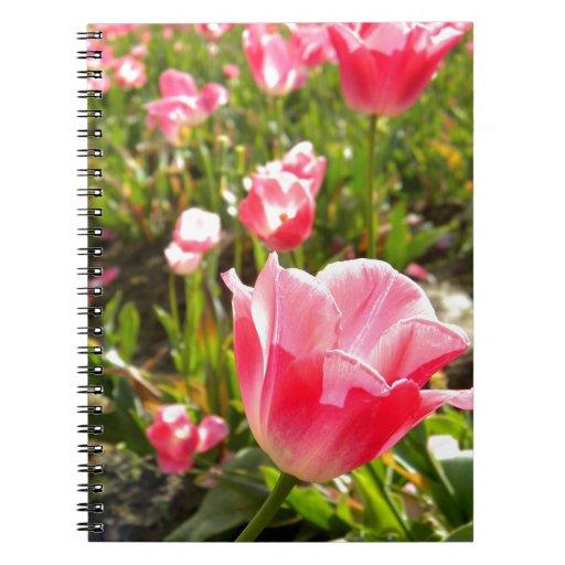 Primavera rosada y verde note book