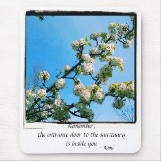 Primavera sabia de las citas floral tapetes de raton
