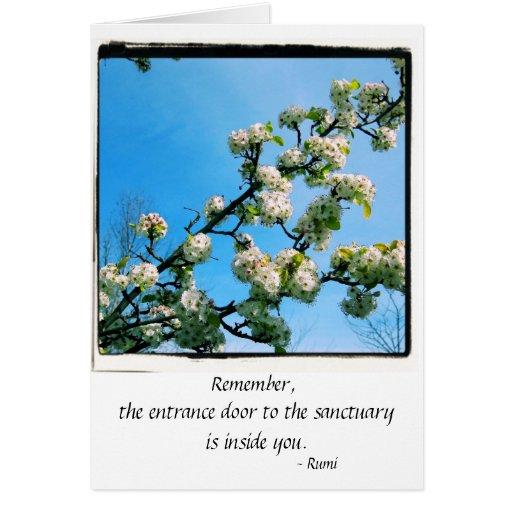 Primavera sabia de las citas floral tarjeta de felicitación