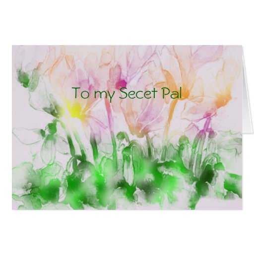 Primavera secreta de PAL Tarjeta De Felicitación