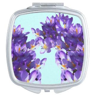 Primavera suave del azafrán del espejo cosmético espejos de maquillaje