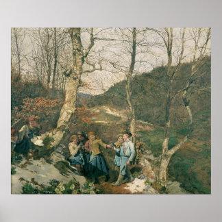 Primavera temprana en las maderas de Viena Poster