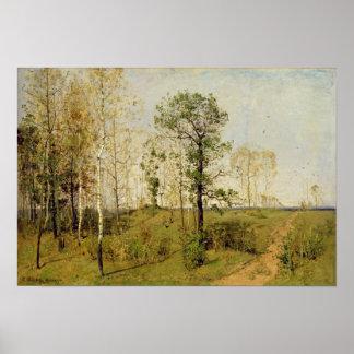 Primavera temprana en Weimar, 1876 Posters