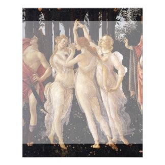 """Primavera: The Three Graces by Botticelli 4.5"""" X 5.6"""" Flyer"""