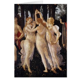 Primavera, Three Graces, by Sandro Botticelli Card