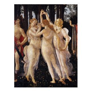 Primavera, Three Graces, by Sandro Botticelli Postcard